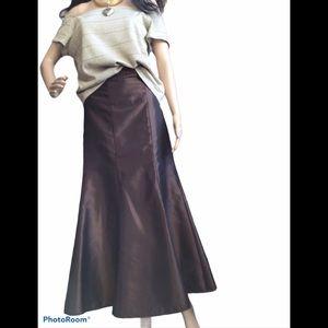 PLUS Laura Metallic Bronze Long Skirt